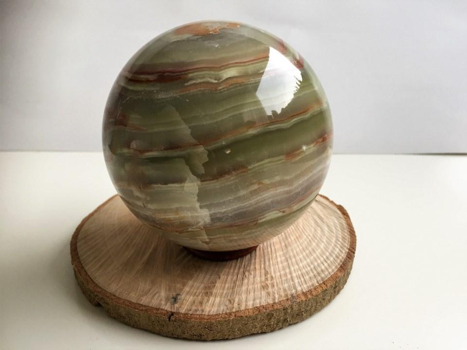 Onyx-marmer edelsteen bol